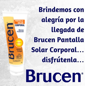 Brucen Pantalla Solar Corporal Hidrata Y Protege 100g