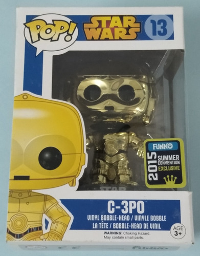 C-3po. Star Wars. #13. 2015 Summer Convention Excl. Pop.