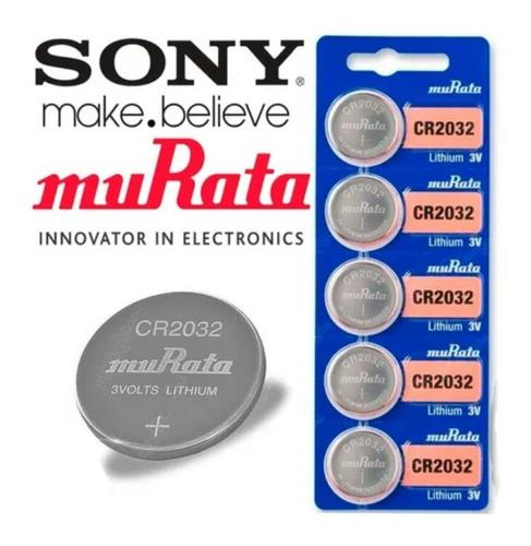 Batería Pila Cr2032 Murata Sony Original Litio, 3v, Pack X 5