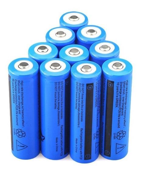 Kit 6 Baterias Recarregaveis 14500 5800 Mah 3.7v Bateria