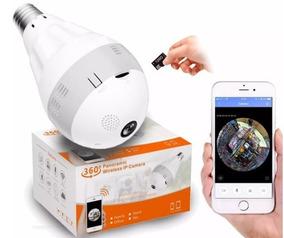Câmera Lâmpada Wifi Espiã + Cartão 32gb + Visão Noturna! Top