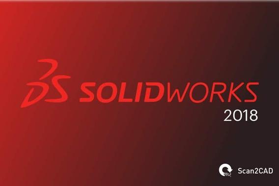 Solidwors 2018 Premium Sp4 Em Portbr E Inglês (receba Hoje)
