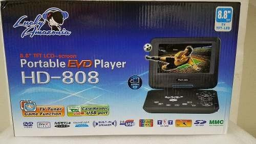 Dvd Portátil Player Evd Hd-808 Tela 8.8 Jogos Game
