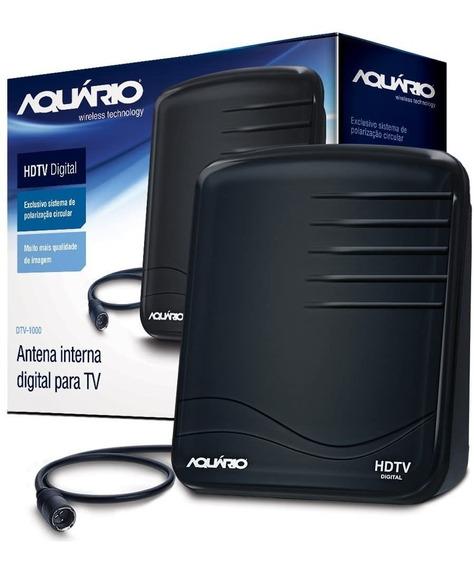 Antena Digital Interna Uhf Hdtv Dtv1000 Aquário