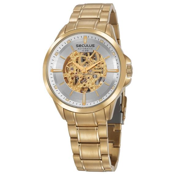 Relógio Masculino Seculus Dourado Automático 20754gpsvda2