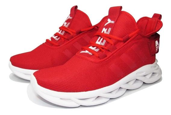 Tênis Ad Maveriick,vermelho Com Branco! Original