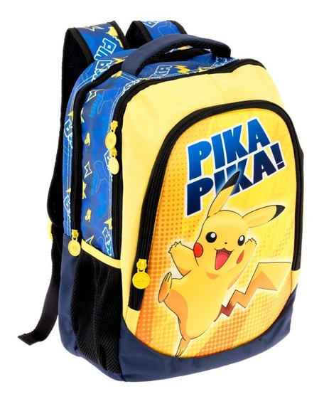 Mochilas Primaria Escolares Niño Pokemon Pikachu 9278