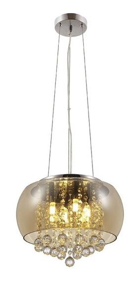 Luminaria Pendente Lustre Cristal Magnum 5 Lampadas