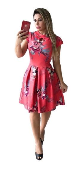 Vestido Rodado Com Pregas Moda Evangélica