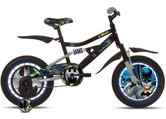 Bicicleta Batman Dark Knight Con Suspensión 1veloci R16