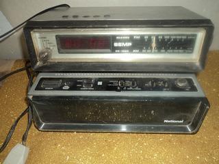 Lote C/ 2 Radios Relogios National/ Semp / Radio Funcionando