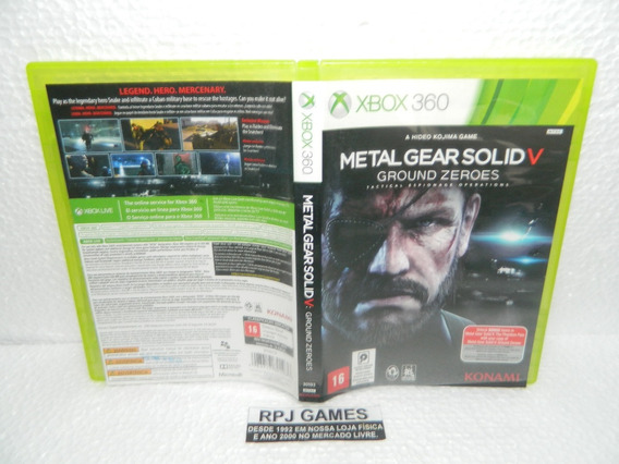 Metal Gear Solid V Ground Zeroes Midia Fisica Caixa Xbox 360