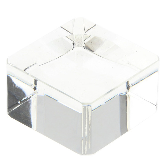 Clear Square Dimple Crystal Display Stand Para 40-60mm Bolas