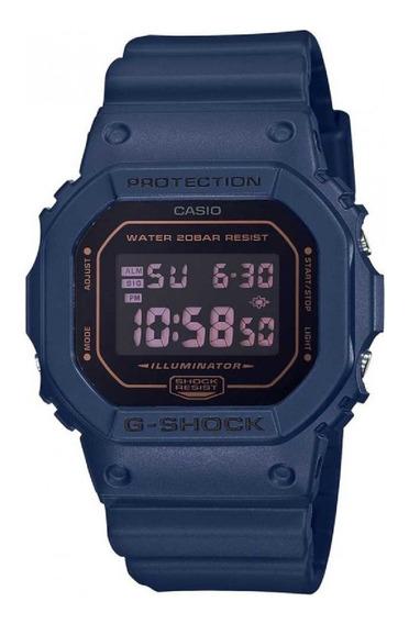 Relógio G-shock Masculino Vintage Dw-5600bbm Azul Marinho