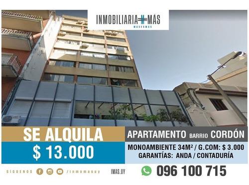 Imagen 1 de 11 de Alquiler Monoambiente Cordón Montevideo Imas.uy N *