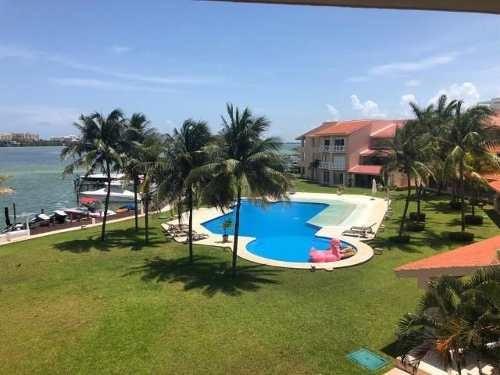 Isla Dorada. Isla Real. Bonito Departamento Amueblado En Renta De 2 Recámaras Con Muelle Y Super Vista A La Laguna. . Zona Hotelera, Cancún, Quintana Roo