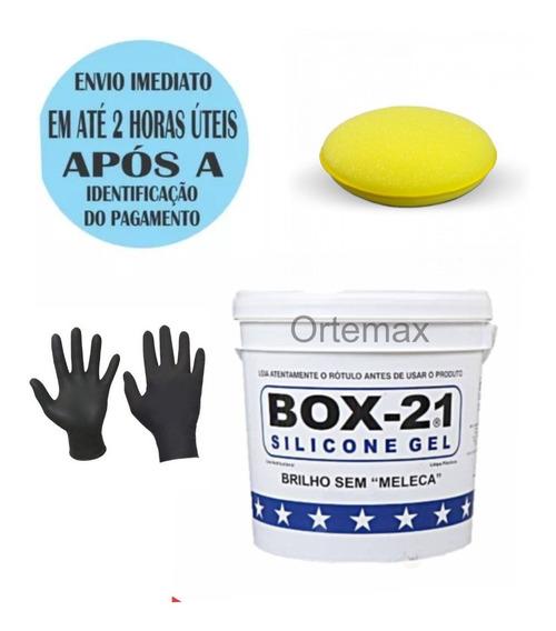 Silicone Gel Sem Meleca Box 21 3,2kgs Com Aplicador + Brinde