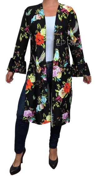 Kimono Largo Boleros Aberturas Sobretodo Cardigan Moda Mujer