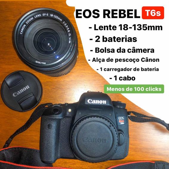 Câmera Canon Rebel Eos T6s Lente 18-135mm