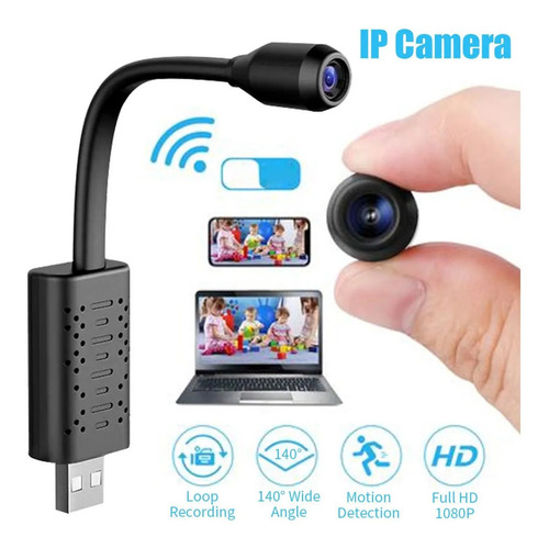 2 Mini Micro Camera Ip Espiã Wifi Full Hd P/ Carro Sd Card