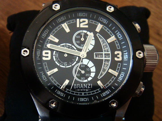 Enorme Reloj Branzi Cronómetro Fechador. Tamaño Monster