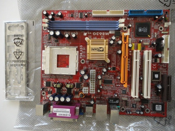 Placa Mãe Pc Chips M863g
