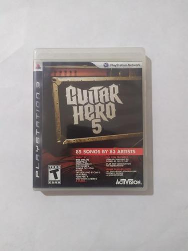 Jogo Guitar Hero 5 Mídia Física Playstation 3