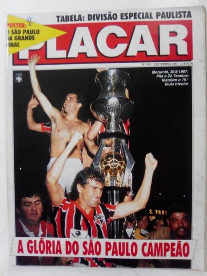 Revista Placar 901 P São Paulo Camp Flamengo Ponte Bahia1987