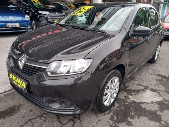 Renault Logan 1.0 12v Expression 2019 Preto/completo/bx Km