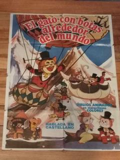 Póster Afiche Cine El Gato Con Botas Único 100% Original