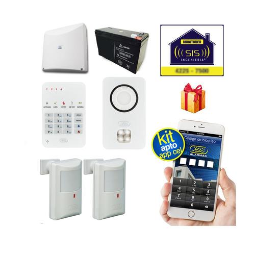 Imagen 1 de 5 de Kit Alarma Domiciliaria X28 Casa Llamador Celular Gsm Sms Apto Comando Via App Celular