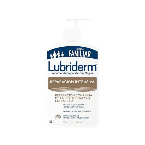 Imagen 1 de 2 de Crema líquida Lubriderm Reparación Intensiva con dosificador 946ml