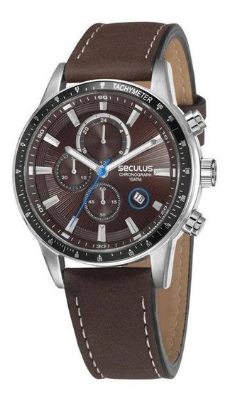 Relógio Masculino Seculus 23649gpsvcc2 - Prata/marrom