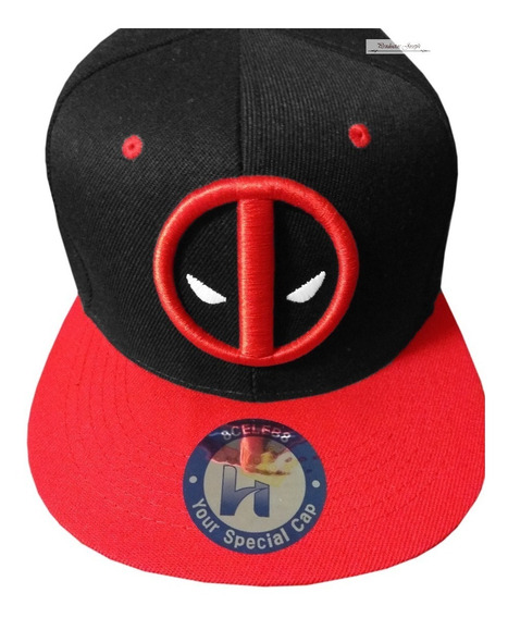 Deadpool Gorra Marvel Black&red Bordado 3d Dead Pool Gorra