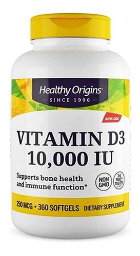 Imagem 1 de 3 de Vitamina D3 10.000 Ui Healthy Origins 360 Cápsulas Original