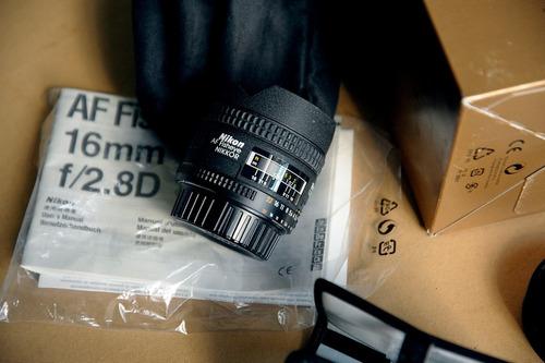 Lente Objetiva Fisheye Nikon 16mm F/2.8d Nikkor