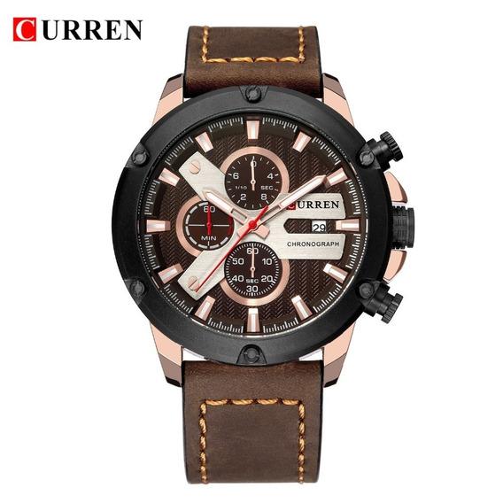 Relógio Currem 8308 Top Luxo Cronógrafo Aço Inoxidável