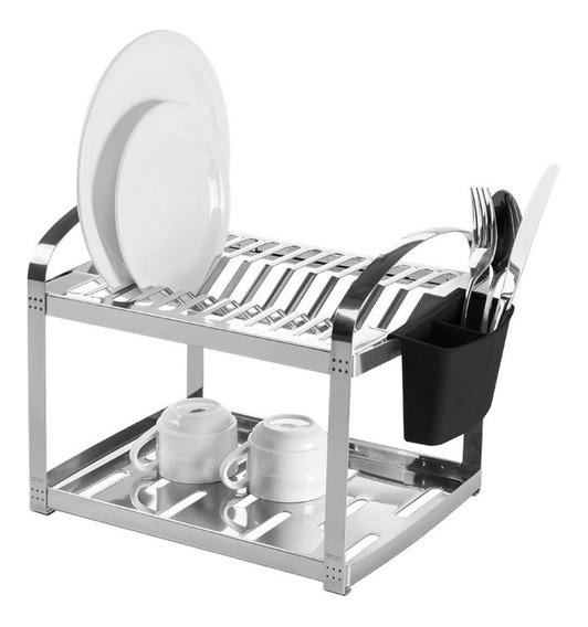 Escorredor De Louça Aço Inox 12 Pratos 2099/112 Brinox