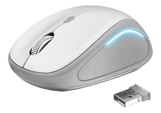 Mouse Inalámbrico Ratón Gamer Yvi Fx Wireless Blanco - Trust