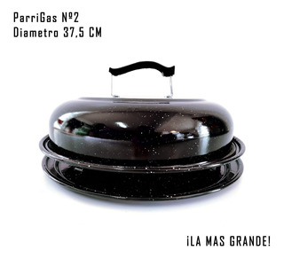 Parrigas Parrilla Circular Enlozada N°2 (36cm) Para Hornalla