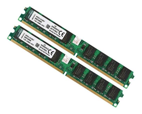 Kit 4 Gb Memoria Ddr2 (2x2gb) 800mhz Kingston Original