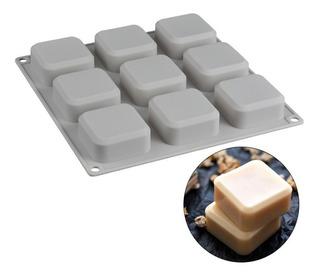 Molde Silicon Para Jabon Artesanal 9 Cuadrado Y Reposteria