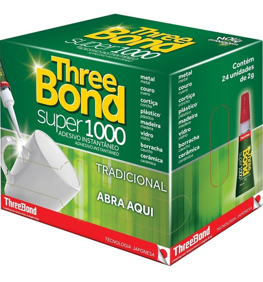 Cola Three Bond Super 1000 2g Caixa C/24 Unidades