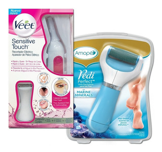 Veet Sensitive Touch Recortadora + Exfoliador Pies Amope