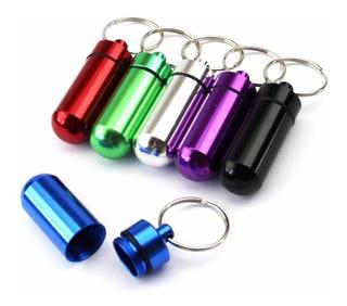 Dosador Bullet Porta Remédios Chaveiro De Alumínio -promoção