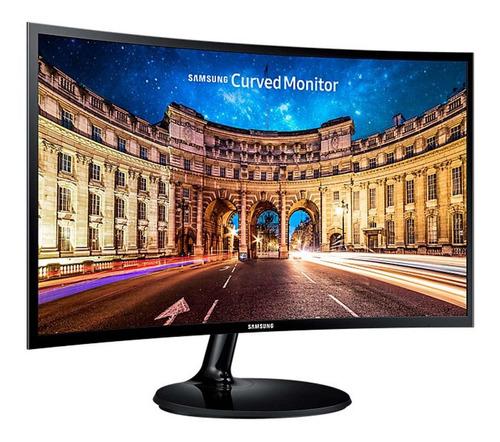 Imagen 1 de 6 de Monitor Gamer Samsung Curvo 24 Pulgadas Hdmi Lc24f390fhlxzx