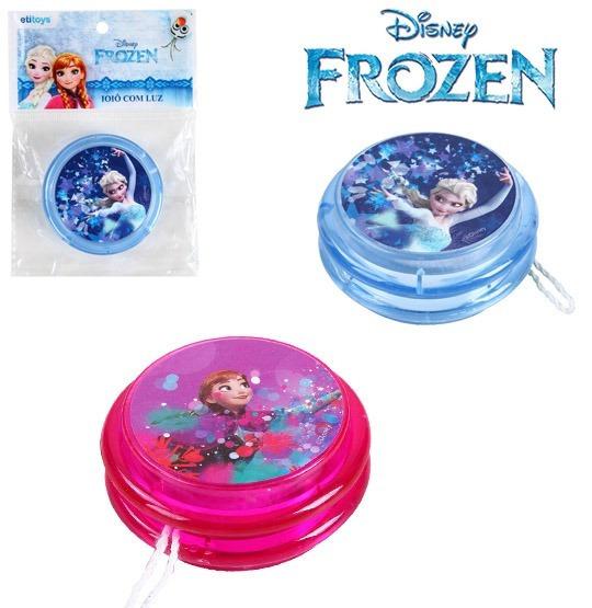 Kit 10 Ioio (yoyo) Com Luz De Plastico Frozen A Bateria*-*
