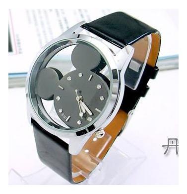 Relógio Feminino Mouse Preto - Quartzo