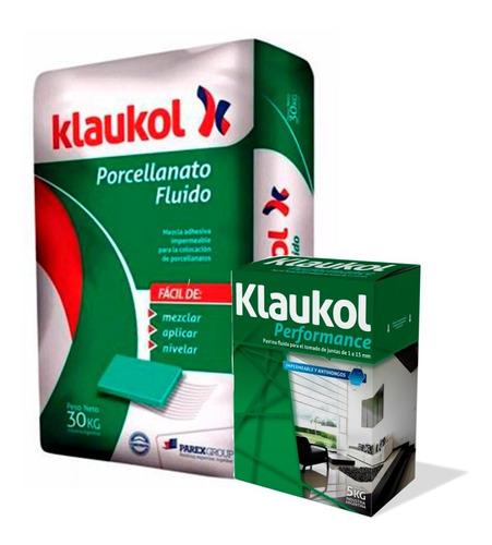 Imagen 1 de 5 de Pegamento Klaukol X 30kg + Pastina Klaukol X Kg Porcellanato