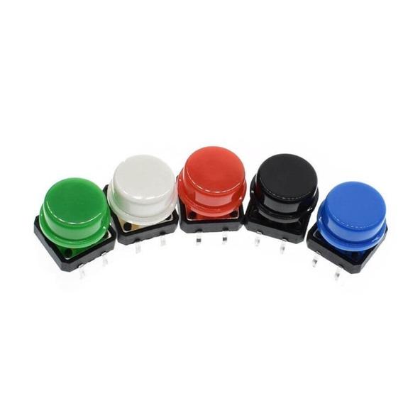 Kit Com 5 Chaves Táctil Push Button Botão 12x12x7.5 Mm Ardui